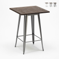 WELDED High Table for Stools Tolix Industrial Style Wood Steel 60x60 - dettaglio