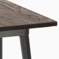WELDED High Table for Stools Tolix Industrial Style Wood Steel 60x60 - interno