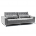 Sofa Bed 2/3 Seats with Armrests and Cushions in Microfiber QUARZO - prezzo