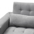 Sofa Bed 2/3 Seats with Armrests and Cushions in Microfiber QUARZO - migliore