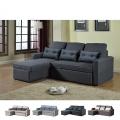 Corner Sofa Bed in Microfiber 3 Seats with Cushions SMERALDO - prezzo