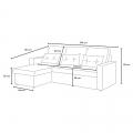 Corner Sofa Bed in Microfiber 3 Seats with Cushions SMERALDO - Bilder