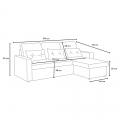 Corner Sofa Bed in Microfiber 3 Seats with Cushions SMERALDO - Rabatt