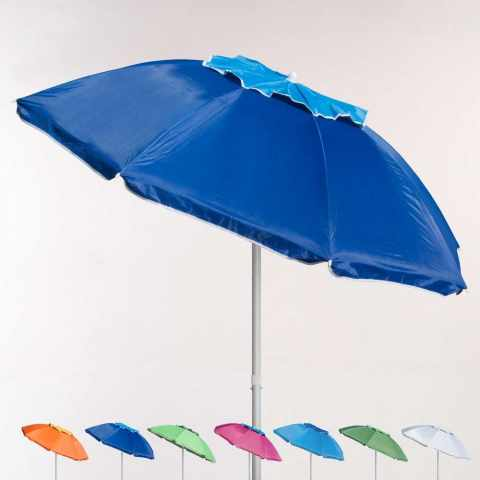 ROME 220cm Aluminium Beach Umbrella With UPF 158 UV Protection